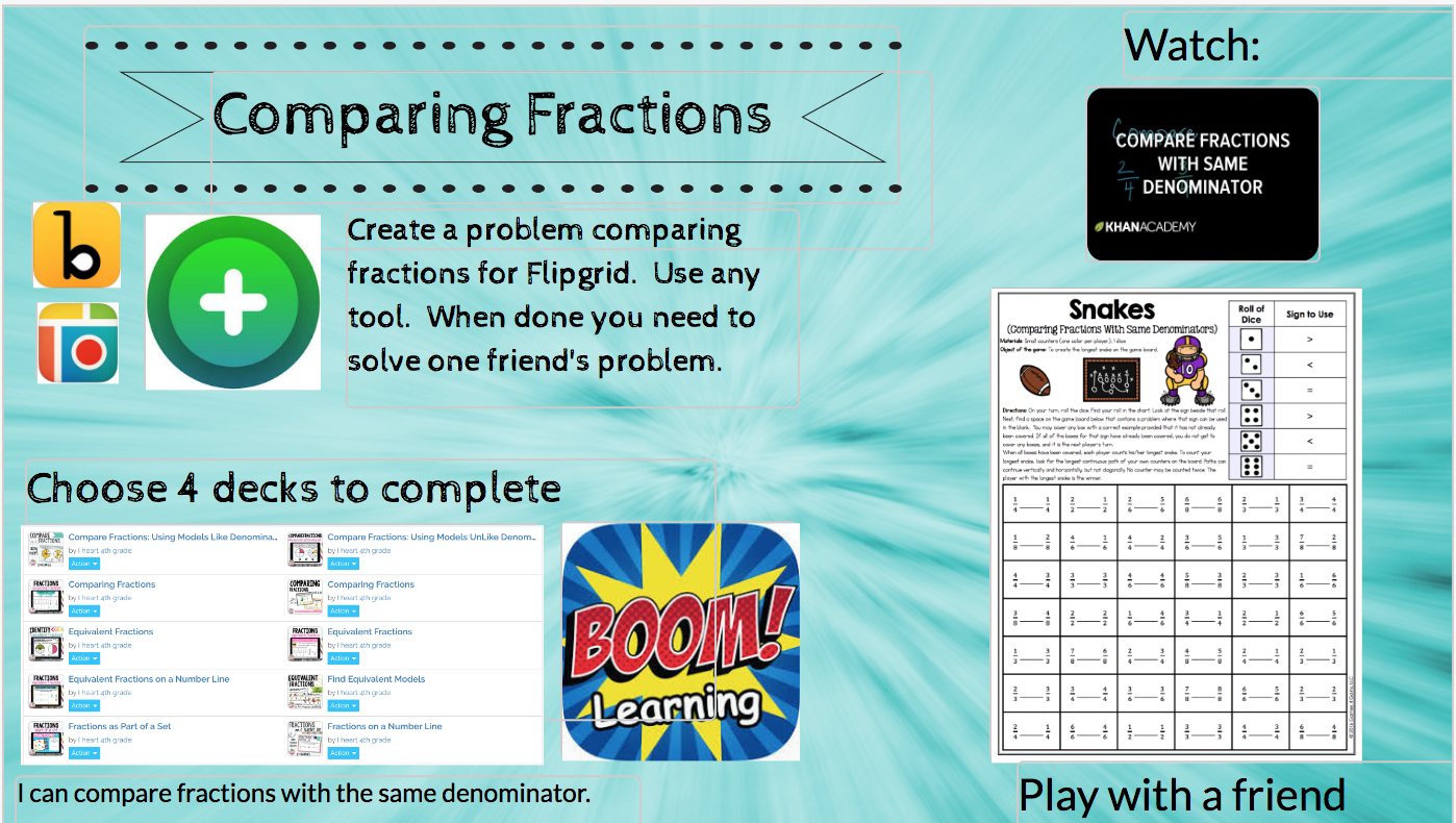 Buncee - challenge math path: fraction